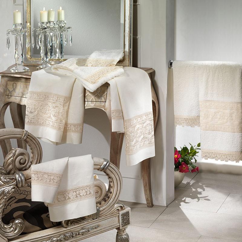 Asciugamani Bagno Lino Riflessi Preziosi - Caprai
